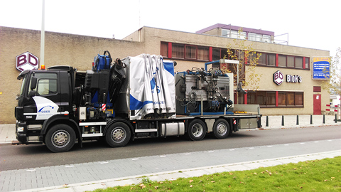 Blok's Draadvorm machine transport